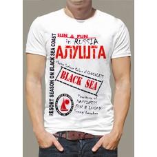 """Футболка  """"Алушта двухцветная"""""""