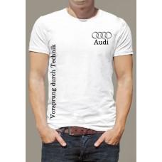 """Футболка """"Audi значок на груди"""""""
