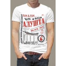 """Футболка мужская """"Алушта двухцветная"""""""
