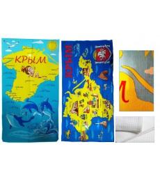 """Полотенце вафельное """"Карта Крыма"""""""